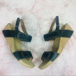 Clarks Bendables Navy Leather Slingback Sandals